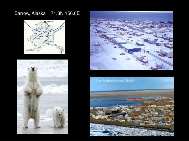 Barrow, Alaska    71.3N 156.6E