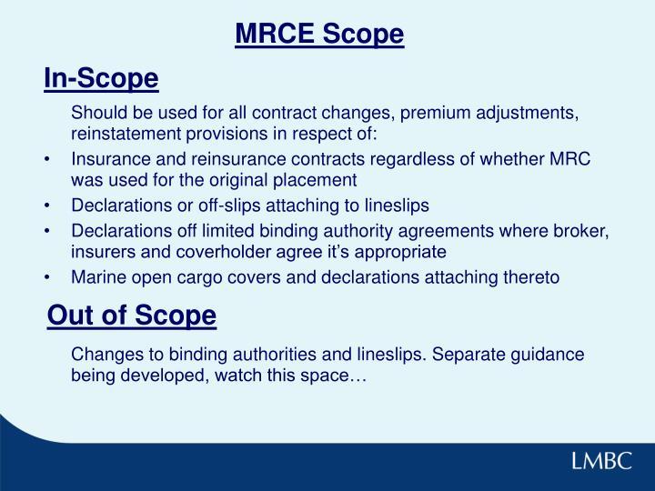 MRCE Scope