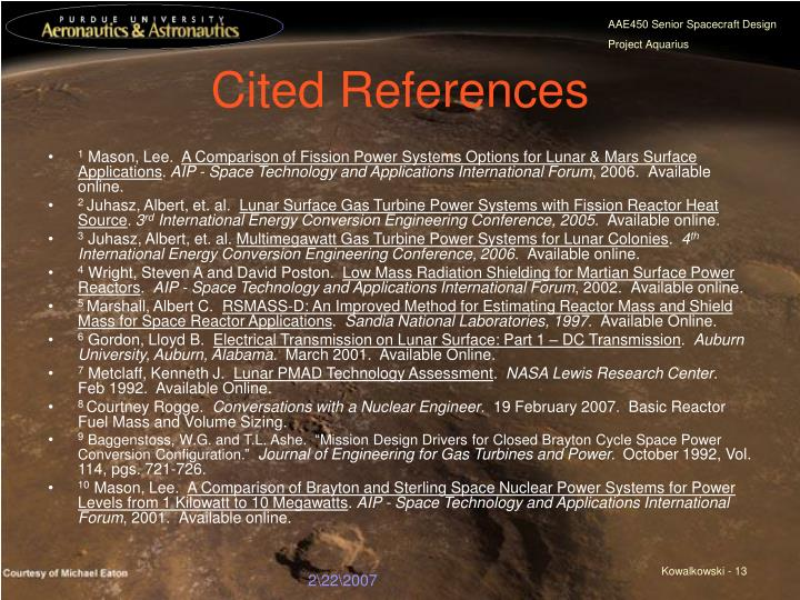 Cited References