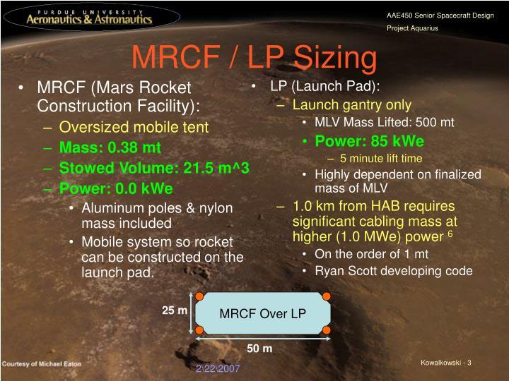 MRCF (Mars Rocket Construction Facility):