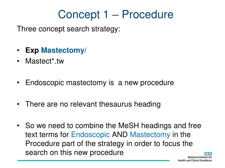 Concept 1 – Procedure