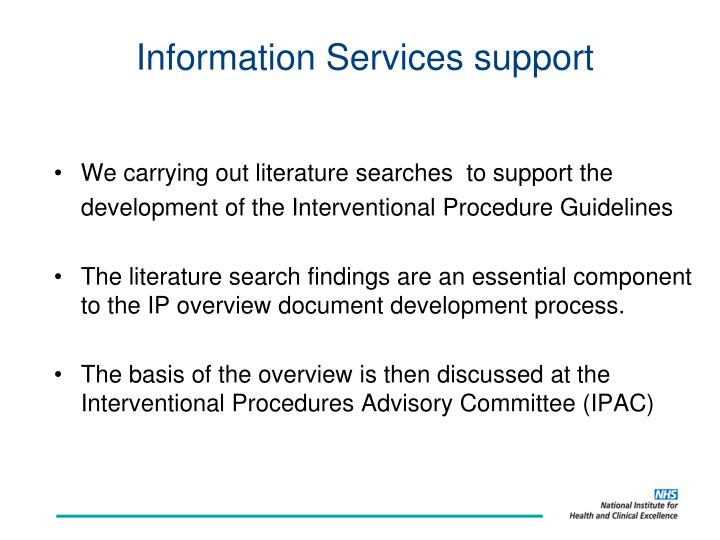Information Services support