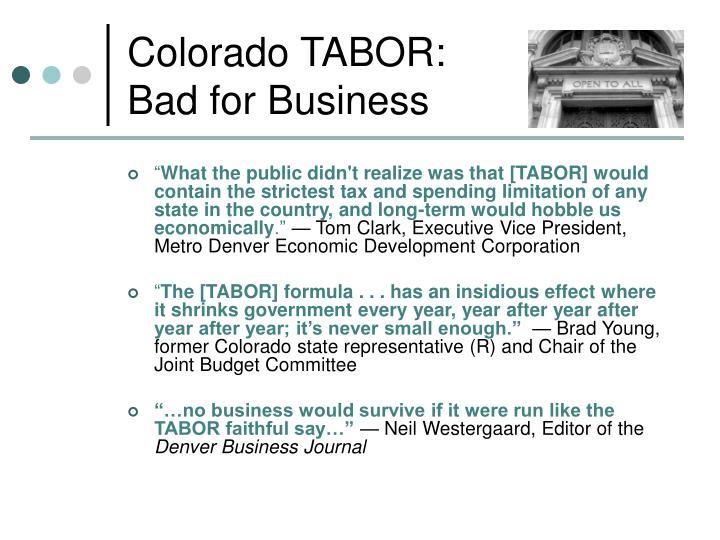Colorado TABOR: