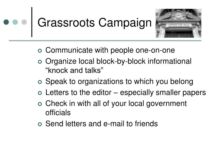 Grassroots Campaign
