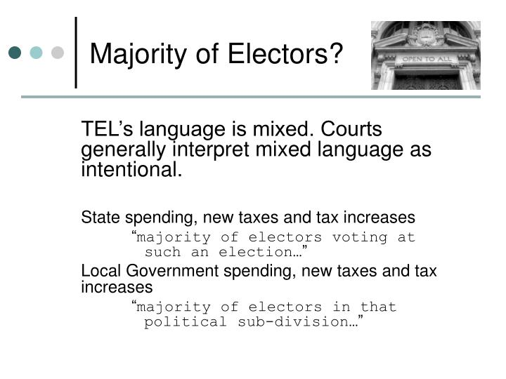 Majority of Electors?