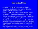 preventing ntds