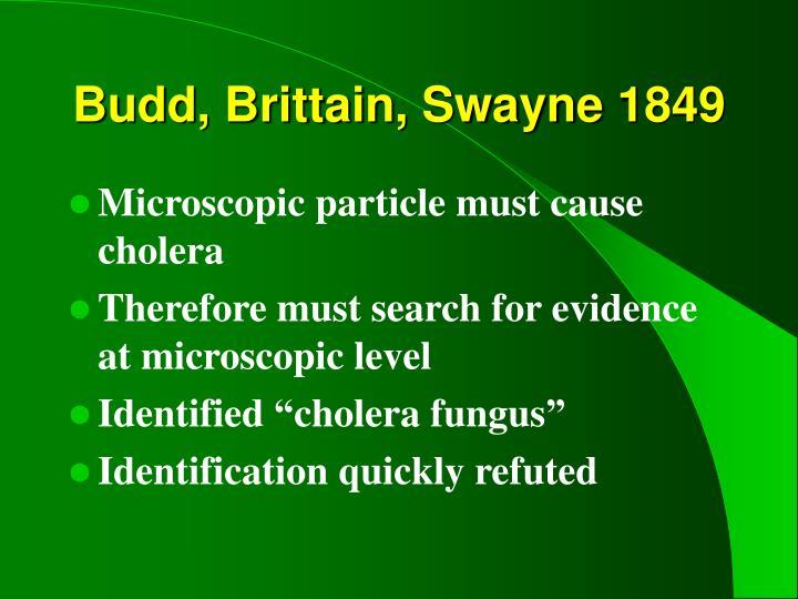 Budd, Brittain, Swayne 1849