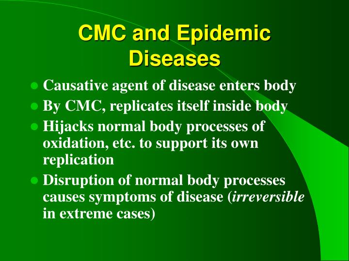 CMC and Epidemic Diseases