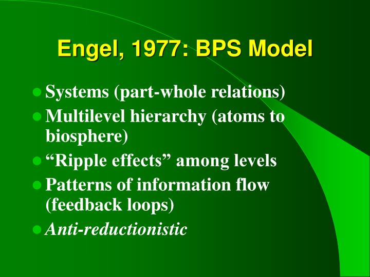 Engel, 1977: BPS Model