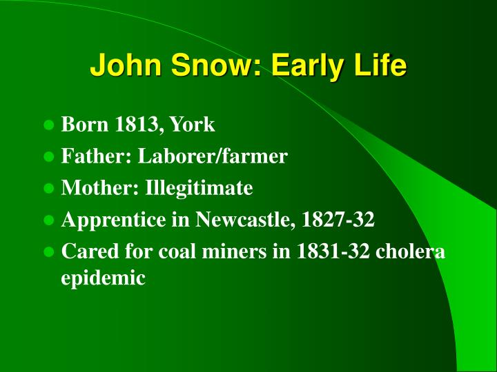 John Snow: Early Life