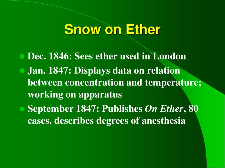 Snow on Ether