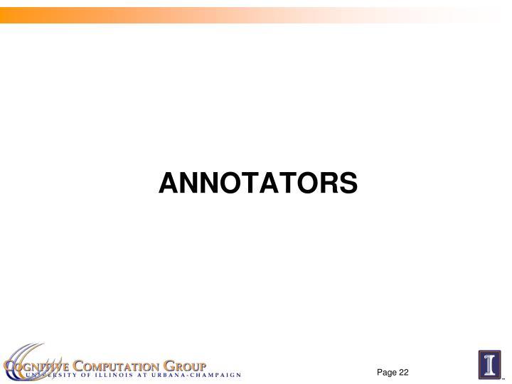 Annotators