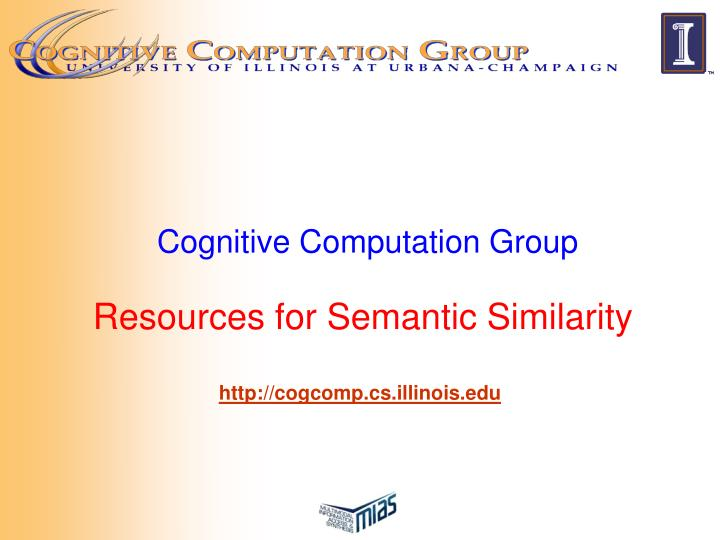 cognitive computation group resources for semantic similarity