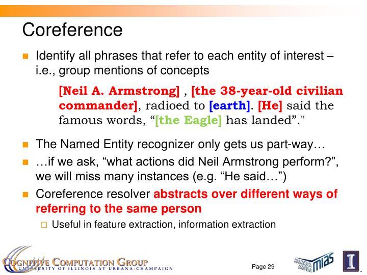 Coreference