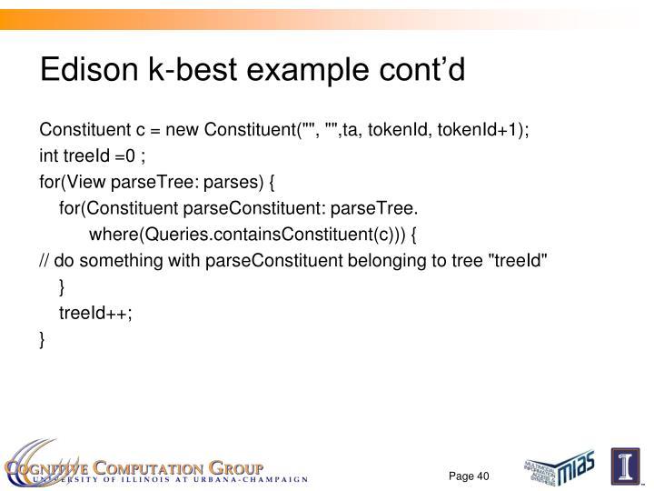 Edison k-best example cont'd