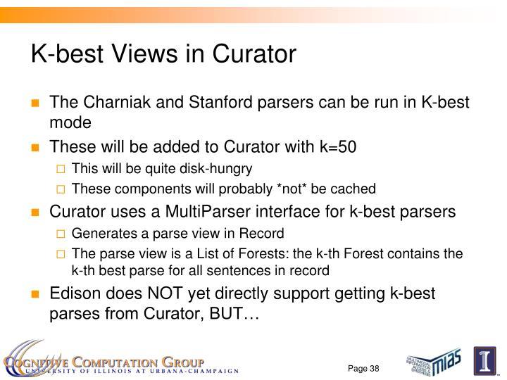 K-best Views in Curator