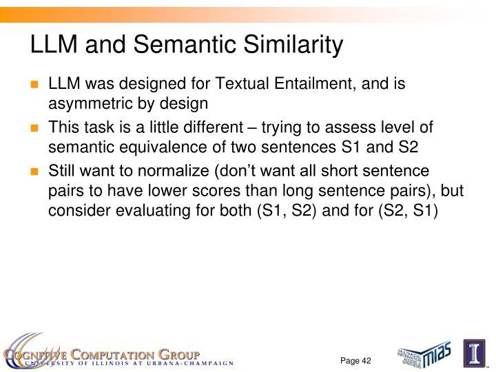 LLM and Semantic Similarity