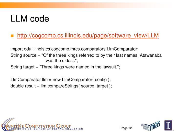 LLM code