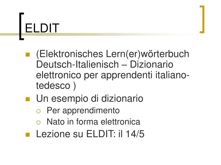 ELDIT
