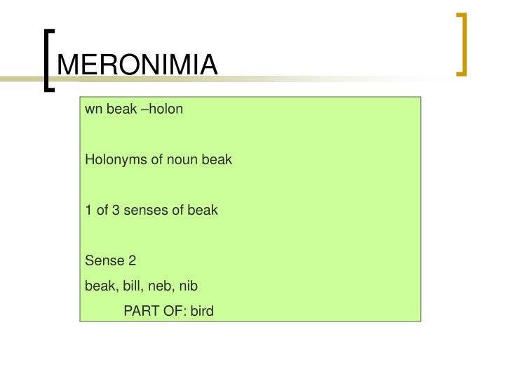 MERONIMIA