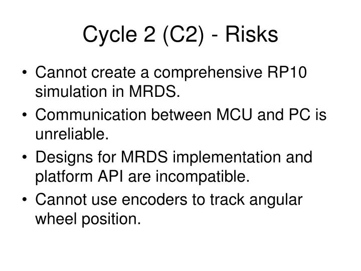Cycle 2 (C2) - Risks