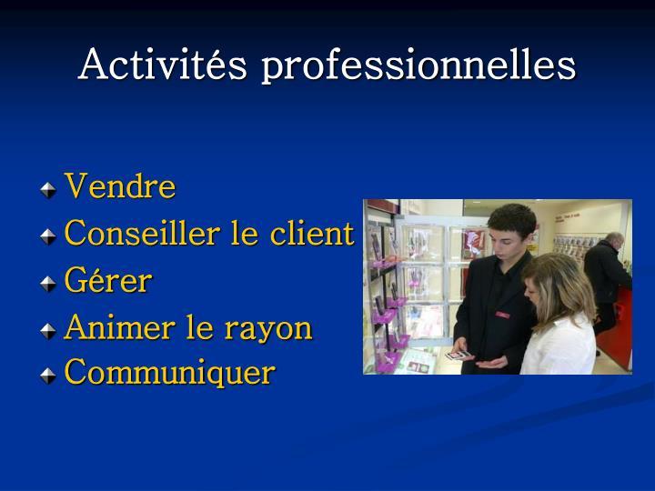 Activités professionnelles