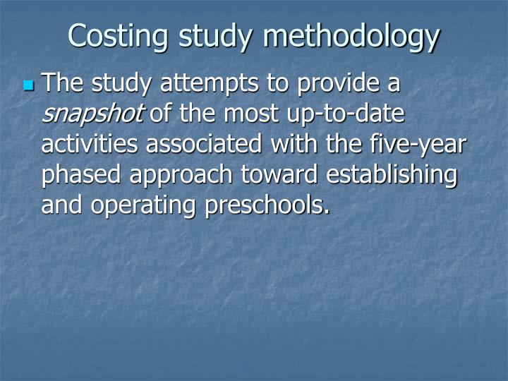 Costing study methodology