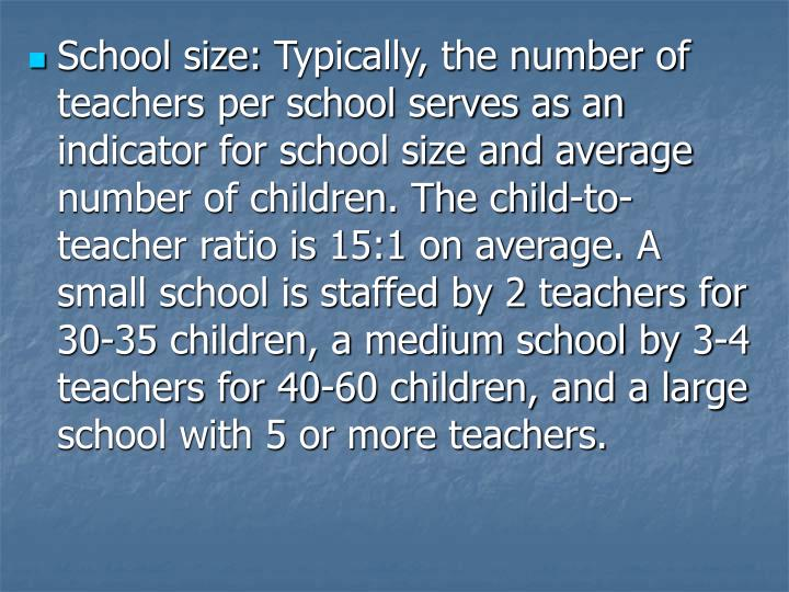 School size: