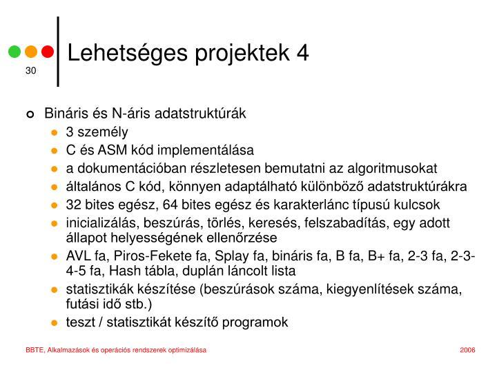 Lehetséges projektek 4