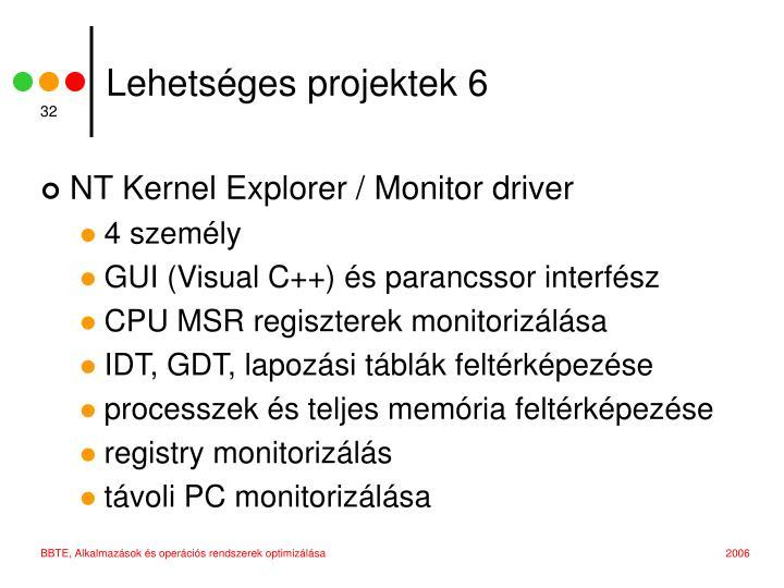Lehetséges projektek 6