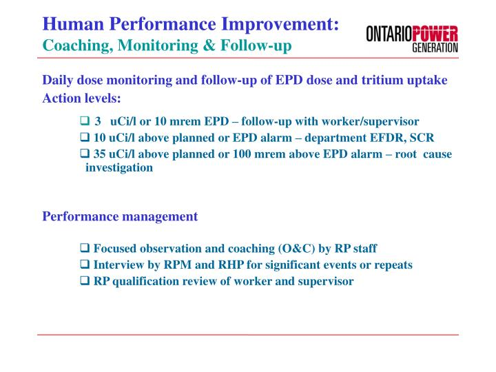 Human Performance Improvement: