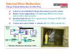 internal dose reduction outage tritium reduction alara plan