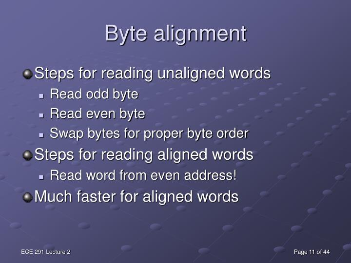 Byte alignment