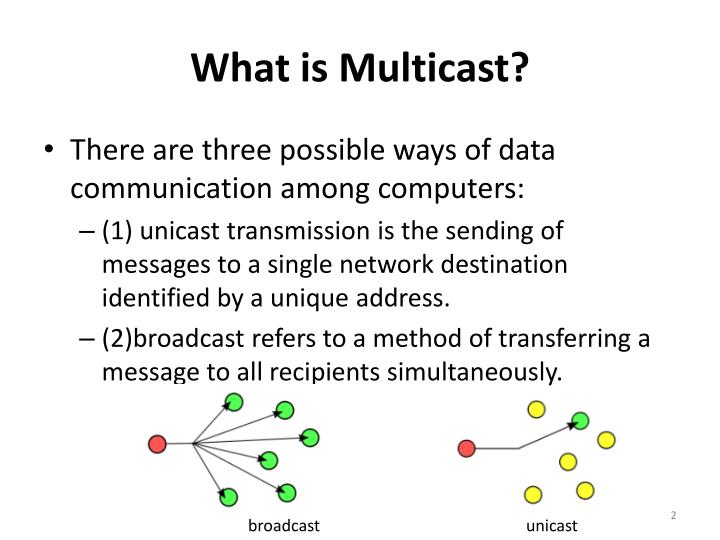 What is multicast