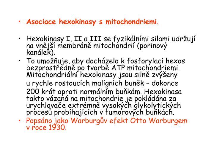 Asociace hexokinasy smitochondriemi