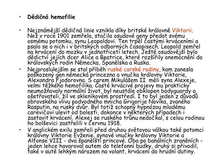 Dědičná hemofilie