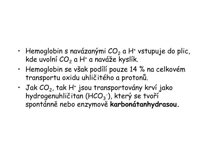 Hemoglobin s navázanými CO