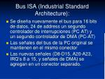 bus isa industrial standard architecture