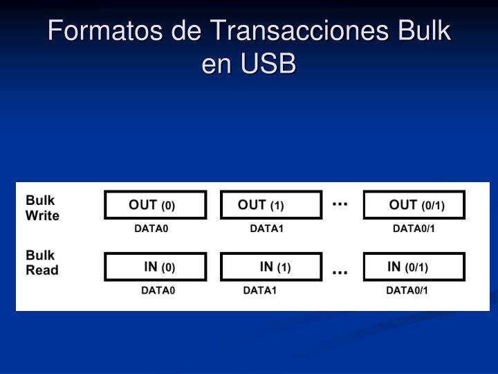 Formatos de Transacciones Bulk en USB