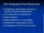 ide integrated drive electronics