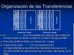 organizaci n de las transferencias