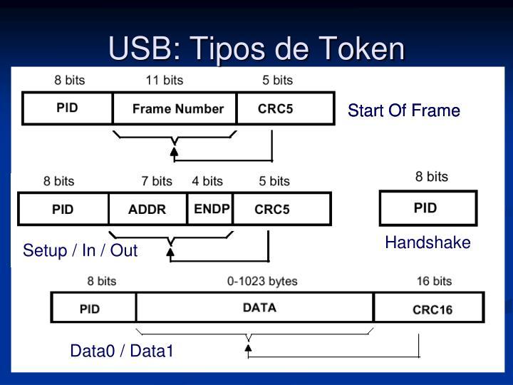 USB: Tipos de Token