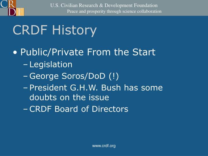 CRDF History