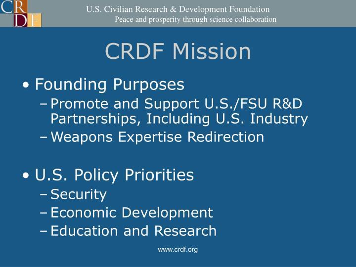 CRDF Mission
