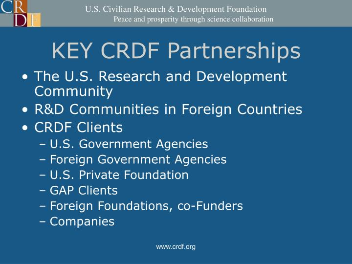 KEY CRDF Partnerships