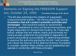 remarks on signing the freedom support act october 24 1992 president george h w bush