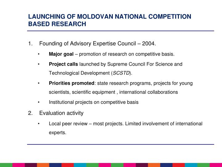Launching of Moldovan National competition based research