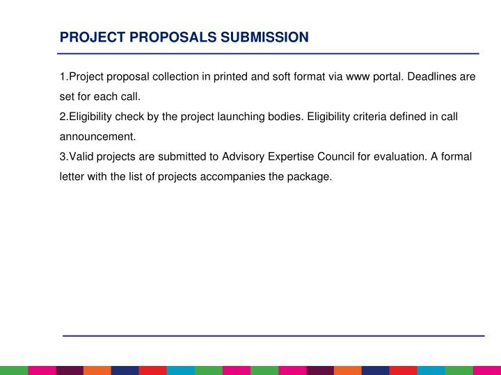 PROJECT PROPOSALS SUBMISSION
