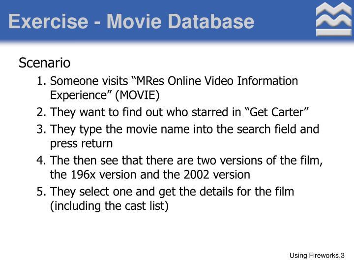 Exercise - Movie Database