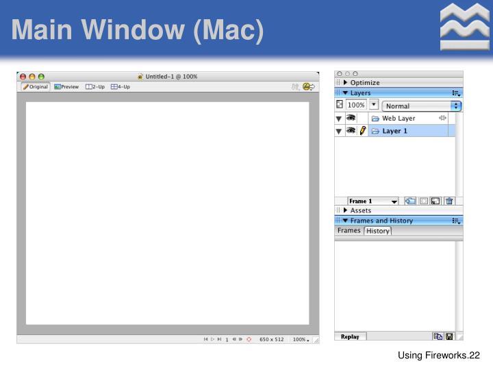 Main Window (Mac)